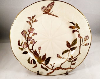 Butterfly Motif Cake Plate Gold Accents and Trim. Housewarming Gift, Get Well Gift, Mother's Day Gift, Anniversary Gift, Thank You Gift