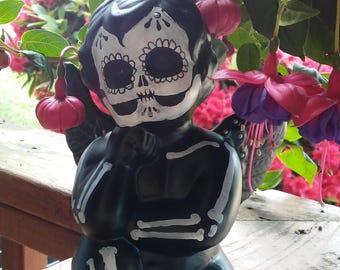 Phillipe, a dark little skeleton boy for your Samhain or Day of the Dead altar
