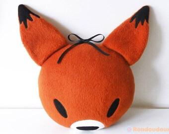 Fox head cushion