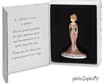 Customized Mother Of The Bride Ornament, Personalized Hair Color Skin Tone Mother Of The Bride Gift