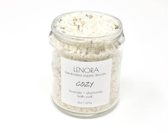 Bath Soak | Cozy | Lavender + Chamomile | Handmade | Gift for her