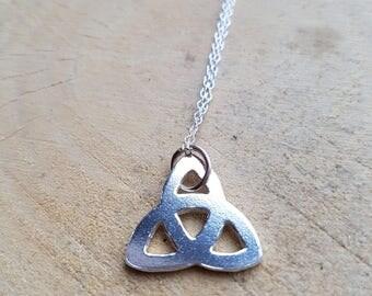 Celtic Knot Necklace Pendant Sterling Silver Celtic Knot