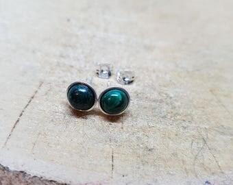 Malachite Earrings Malachite Jewelry Gemstone Earrings Sterling Silver Earrings