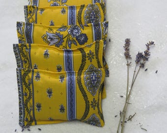 Lavender sachets.Set of sachets, Set of lavender hanger sachets.Choose your set! French Provencal gift Little flowers in yellow