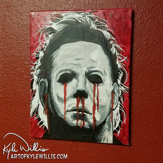 Michael Myers Acrylic Painting