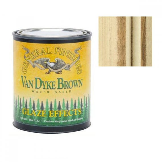 Paint Glaze - General Finishes - Antiquing Glaze - Van Dyke Brown - Translucent Paint - Faux Finish Paint