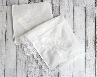 LDS Tucson Temple Men and Women Handkerchief  *Lace edge sold out