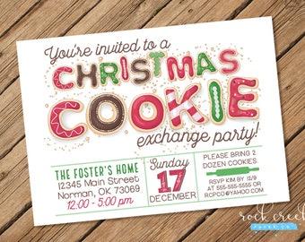 Cookie Exchange Invitation, Holiday Cookie Swap, Christmas Cookie Exchange, Holiday Cookie Exchange, Printable Event Invitation