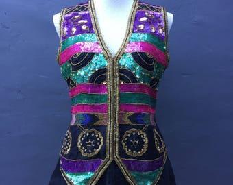 Vintage sequin vest