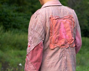 Unique men's jacket-jacket spring-summer-autumn boho