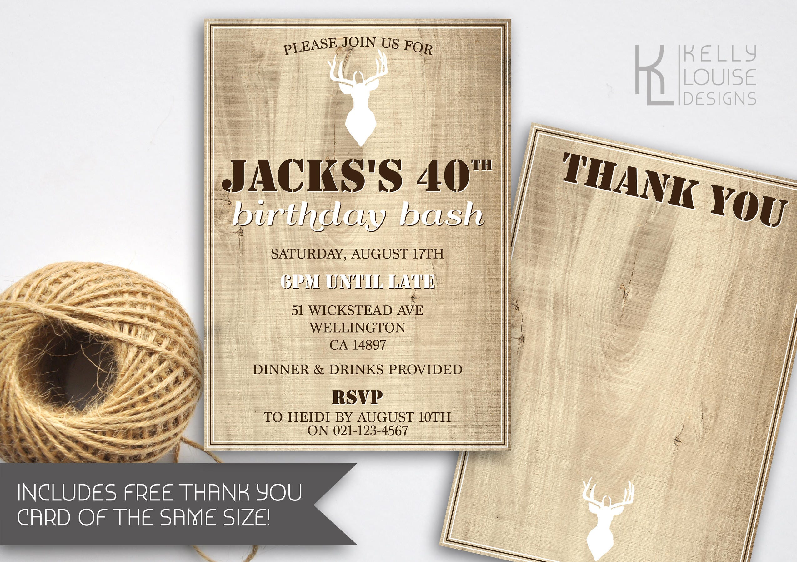 Stag Birthday Invitation | Bucks Party | Stag Do | Hunting ...