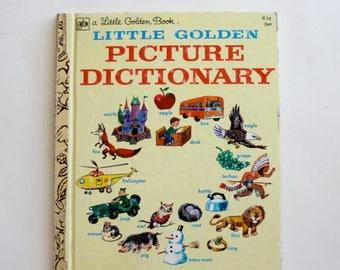 A Little Golden Book: Little Golden Picture Dictionary - Children's Book, Vintage Book