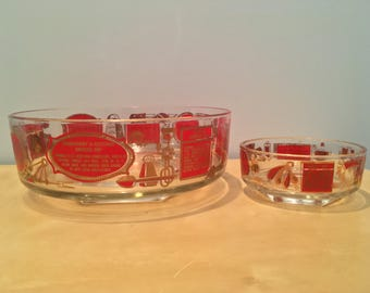 Vintage Mid Century Chip and Dip Set with Dip Recipes