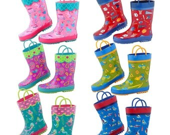 Monorammed or Name Children's Rain Boots, Boy's Rain Boots, Girls Rain Boots