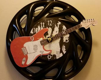 """14"""" Hubcap Clock finished with Numbers"""