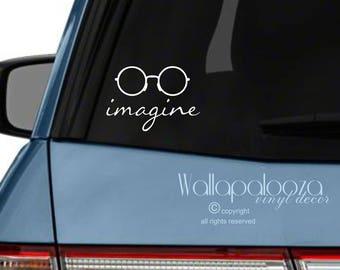Imagine, imagine car decal, imagine peace decal, peace car decal, peace decal, peace sticker, Peace on Earth, Wallapalooza Wall Decals