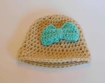 Baby bow Knit Cap