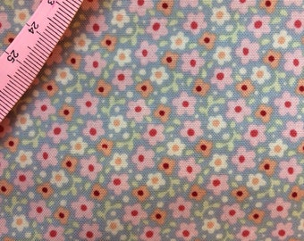 Tilda Celia Light Blue Fabric  / Sweetheart Collection - Fat Quarter / 50 cm x 55 cm