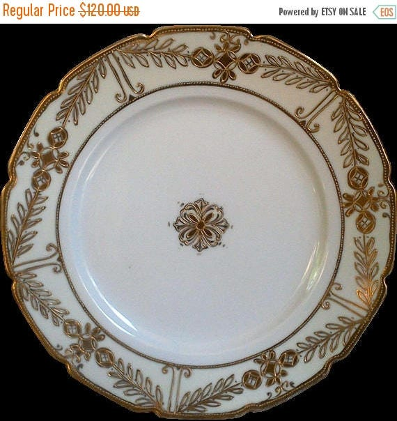 50% off Antique Nippon Hand Painted Gold Plate