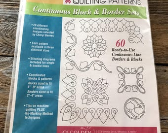 Golden Threads Shirley Thompson Quilting Patterns, Continuous Block & Border Sets 60 Ready To Use