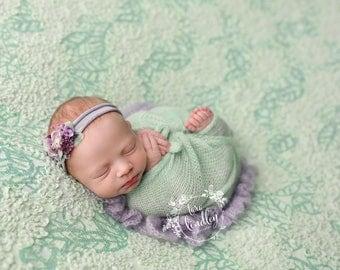 Newborn Photography Fabric Backdrop - Chaunva Backdrop in Sage - 2 Yards
