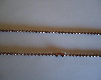 Brown ball chain