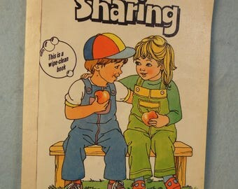 Vintage-1985-Wipe Clean Book-Sharing