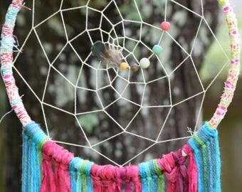 Large Sari Silk DreamCatcher
