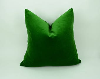 emerald green velvet pillow case // green velvet cushion // emerald green pillow