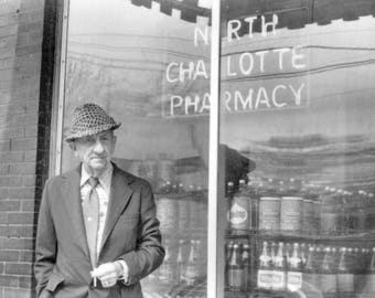NoDa North Charlotte Pharmacy - now Cabo Fish Taco restaurant, Original Black & White Photography Print,  8 1/2 X 11
