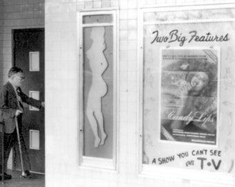 NoDa Astor Theatre - now Neighborhood Theatre, Original Black & White Photography Print, 8 1/2 X 11