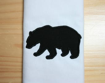 bear silhouette 2 applique
