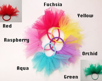 Pouf Ponytail Holder available in Bright Colors