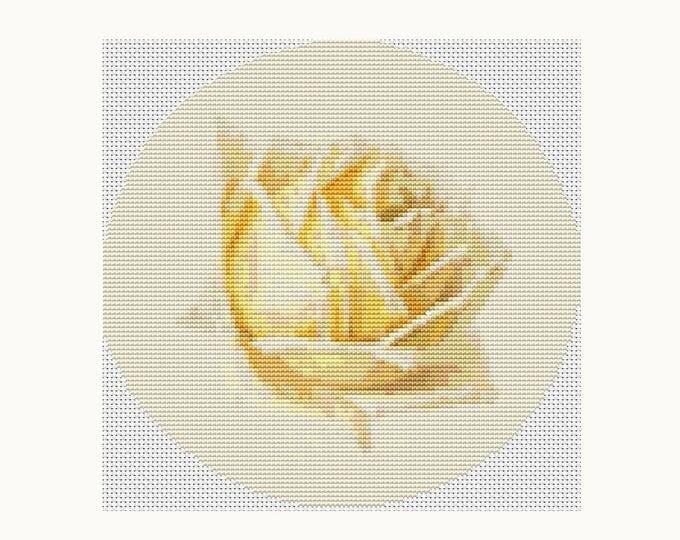 CIRCULAR Cross Stitch Pattern PDF, Embroidery Chart, Art Cross Stitch, Study of a Rose by Paul de Longpre (C012)