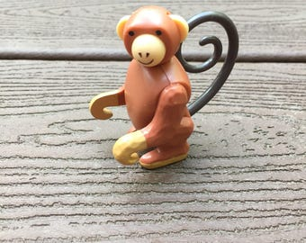 Vintage Fisher-Price Little People Monkey for Circus Train & Animal Circus