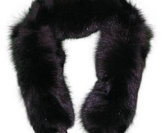 Glacier Wear Black Fox Fur Ruff 28 inches fxx118
