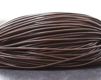 2 meters leather cord genuine Brown thick 2mm