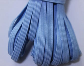 elastic Ribbon 5 meters flat blue color