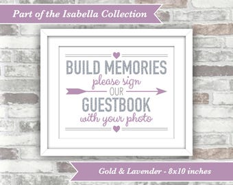 INSTANT DOWNLOAD - Isabella Collection - Printable Wedding Photo Guestbook Guest Book Sign - Please sign our guestbook with your photo