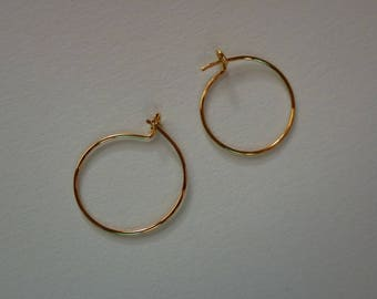 Gold Plated Small Hoops