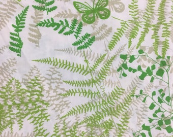 Vintage Vera Flat Full Sheet *  Shadow Fern and Butterfly