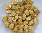 Vintage Gold Eagle Military Uniform Buttons - Lot of 36 Small Shank Sewing Set