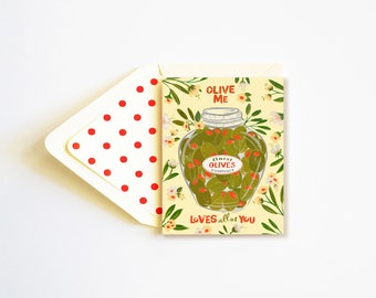 Olive Me love all of You Card