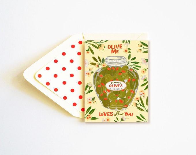 Olive Me loves all of You Card