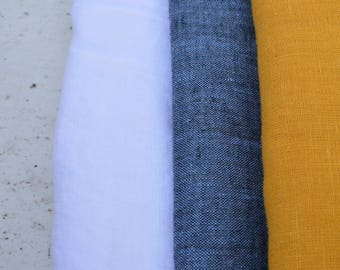 Prewashed linen | 100% linen | Home decor | Shirting fabric | Europe linen | Baby fabric | Denim blue | Flax | Eco linen | Bengi design