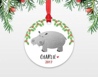 Hippo ornament | Etsy