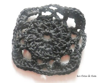 1 x granny cotton handmade crochet