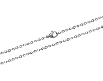 Steel carabiner width 2 mm chain necklace chain