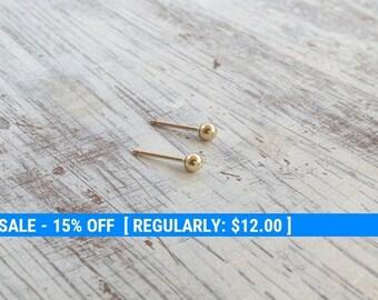 Simple stud earrings,gold stud sarrings,tiny sarrings, dot earring,minimalist Stud earrings,everyday,Gold Filled Stud Earrings Jewelry -2555