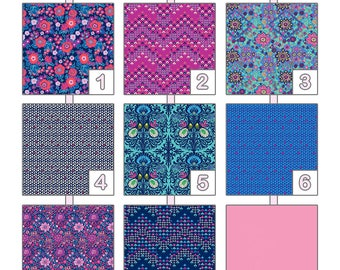 Crib Sheet ... { Soul Mate } Amy Butler - Crisp Indigo Palette
